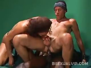 Porn Tube of Bisexual Anal Threesome