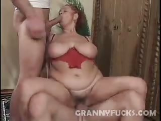 Porno Video of Hardcore Granny Threesome