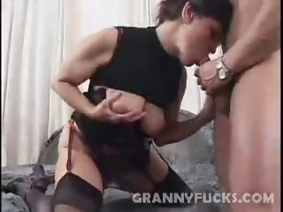 Porno Video of Granny Jozsefne Hard Fucked