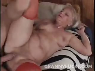 Porno Video of Blonde Grandma Ursula Fucked