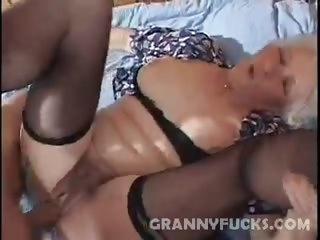 Porn Tube of Horny Grandma Fucked