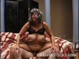 Sex Movie of Horny Grandma Fucked