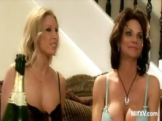 Porno Video of Naked Milf Pornstars In The Living Room
