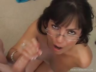 Porno Video of Adrianna Analese Jerks Off Handjob Harry