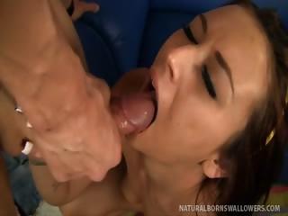 Porn Tube of Alexis Grace Enjoys Hot Cum Shower