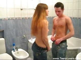 Porno Video of Teen Bathroom Suck And Fuck