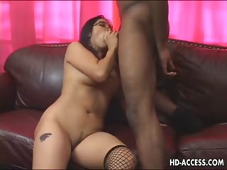 Porn Tube of Asian Hottie Mika Tan Big Black Cock Fever!