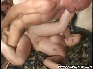 Porn Tube of Hot Threesome Sex