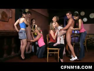 Porn Tube of Czech Cfnm Hen Party With 6 Teens