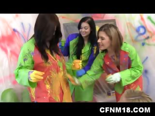 Porn Tube of Five College Sluts In Cfnm Action