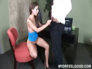Porno Video of Drfeelgood Fucks 18yo Sophie In His Office