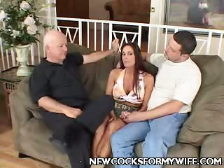 Porn Tube of Busty Cheating Wife Striptease