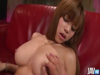 Sex Movie of Beautiful Nene Azami Is On Her Knees Gobbling Cock And Has Her Pussy Banged