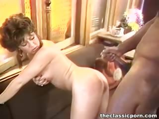Porn Tube of White Retro Pussy Attacks Black Rod
