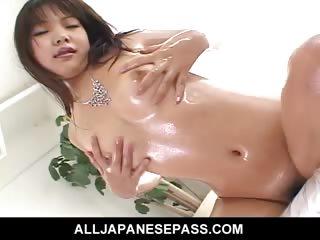 Porno Video of Cute Japanese Doll Saki Ogasawara Fucks Herself