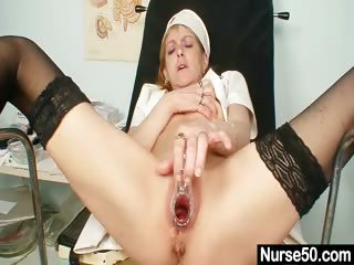 Porno Video of Skinny Milf Nora Opens Pussy With Speculum Spreader