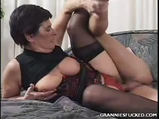 Porn Tube of Cock Riding Granny
