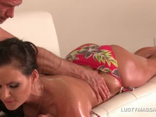 Porn Tube of Hot Ass Pornstar Gets An Erotic Body Massage With Oil