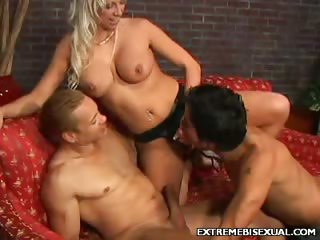 Porn Tube of Bisexual Strap On Shagging