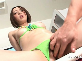 Sex Movie of Hairy Asian Babe Extreme Insertion Fisting