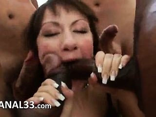 Porn Tube of Brutal Ass Gangbang Of Ass Acrobat