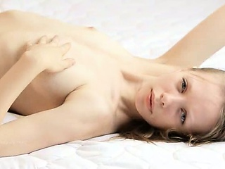 Porn Tube of Skinny Chick Gloria Opening Her Vagina
