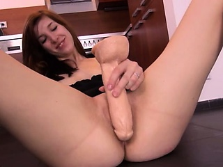 Porn Tube of Brutal Toy Inserted In Her Czech Pussy