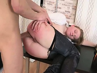 Sex Movie of Punished Secretary With Dick In Butthole