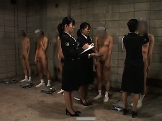 Porn Tube of Dirty Asian Police Women Sex Teasing Their Male Convicts
