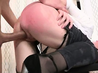 Porn Tube of Punished Secretary With Dick In Anal