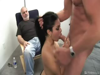 Porno Video of Carmen's Husband Came To Us For Help. As Newly-weds, He Just Can't Keep Up With Her Cute, Nypho Needs. The Cure For Their Dilemma - Some Fresh Cock For This Cute Housewife! They Wanted Us To Video It For Them, And Now We Are Sneaking The Exclusive Video T
