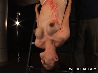 Porn Tube of Roped Asian Pregnant Slave Gets Wax Dripped On Her