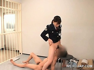 Porn Tube of Nasty Asian Police Woman Cunt Licked By Horny Convict