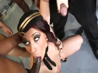 Porno Video of Welcome To America Olga, Here Are Four Bodacious Black Cocks For You To Fuck And Suck! This Rockin' Russian Gets Her Mouth Mangled, Her Pussy Pounded And Her Asshole Annihilated By The Thickest, Blackest Swingin' Dicks This Side Of The Atlantic! This Soci
