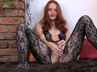 Porn Tube of Gyno Toy In Her Huge Redhead Cunt