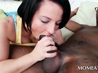 Porn Tube of Dirty Mom Taking Giant Black Shaft Deep In Her Slick Pussy