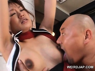 Porno Video of Asian Pregnant Babe In Ropes Gets Tits Milked And Sucked