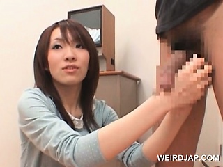 Porn Tube of Lovely Asian Learning How To Give Handjob From The Doctors