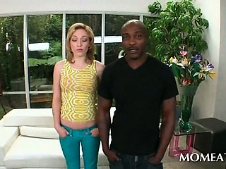 Porno Video of Blonde Housewife Seducing Her Handsome Black Neighbor