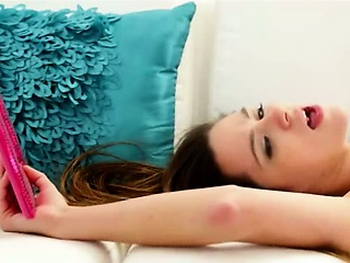 Sex Movie of Sexy Masturbation On The White Bigbed
