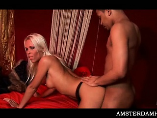 Porn Tube of Perky Amsterdam Hoe Fucking Shaft In Mouth And Pussy