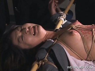Porn Tube of Jap Sex Slave Punished With Hot Wax Dripped On Her Body