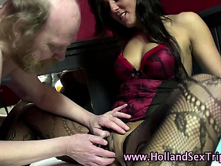 Porno Video of Real Stockings Hooker Fingered