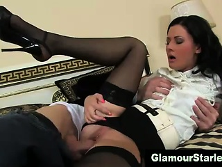 Porno Video of Clothed Glamour Babe Hard Fucking