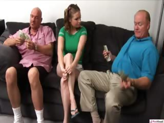 Porno Video of Tatiana Arrives To Give The Guy's House A Thorough Cleaning. However, Housekeeping Doesn't Pay Much, So When Dick And Rod Offer Her Cash To Give Their Old Pussy Punishers A Spit Shine Its Not Long Before They're Getting Dirty In Her Pussy. Only This Time