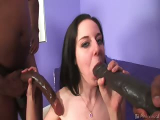 Porn Tube of It's Assault With A Friendly Weapon As The Monsters Of Cock Drop Some Chocolate In Pretty Cheerleader Tiffany! Watch Her Get Cock-kebabed By These Dongmasters As You Wonder Will The Icb Be Able To Fit Their Chocolate Into Her Peanut Butter? Tune In And Fi