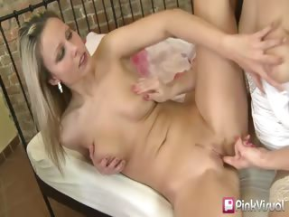 Porn Tube of These First Time Lesbian Sluts Can't Get Enough Of Each Others Pussy. Dildo Fucking, Finger Fucking, Lip Smacking-its All Here. Watch As Their Passion Lights Up The Sheets In This Sexy Girl On Girl Action.