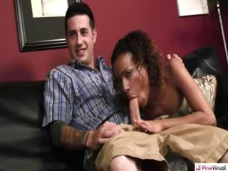 Porno Video of What Happens When You Have A Hot Wife But Not The 10 Grand You Owe Our Friend Reef? You Either End Up In The Hospital Or Watching Your Wife Suck Mr. Money Bags' Giant Cock Then Writhe In Ecstasy As He Licks And Pricks Her Next To You On Your Living Room C
