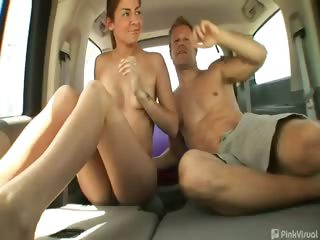 Porno Video of Why Jog When You Can Hop In The Van And Fuck Your Way To Good Health? Peyton Hitched A Ride With Us And After Small Talk And Convincing That Nobody Could See In She Let Loose And Got One Hell Of A Workout Riding Reverse Cowgirl While The Truckers Cheered