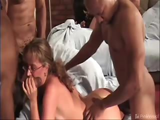 Porno Video of We Paid Lizzy 300 Bones To Show Us How To Plant A Tree In Our Yard, Little Did She Know That A Few Other Things Were About To Get Planted As Well. The Gangbang Squad Strikes Again As Lizzy Gets 4 Black Cocks ... And A Face Full Of Milkshake. Ha!